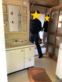 浴室&脱衣所リフォーム①